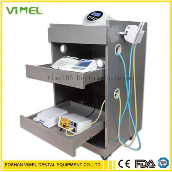 Medical Steel Cart Trolley Doctor Dentist Trolly Cart for Implant with Power
