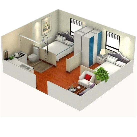 2 Bedroom Cheap Mobile Homes Modular Prefabricated Expandable Container  House
