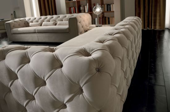 Goose Down Living Room Sectional Sofa