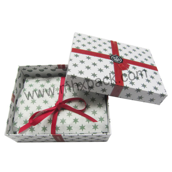 Luxury Christmas Paper Gift Packaging Box with Tissue Paper