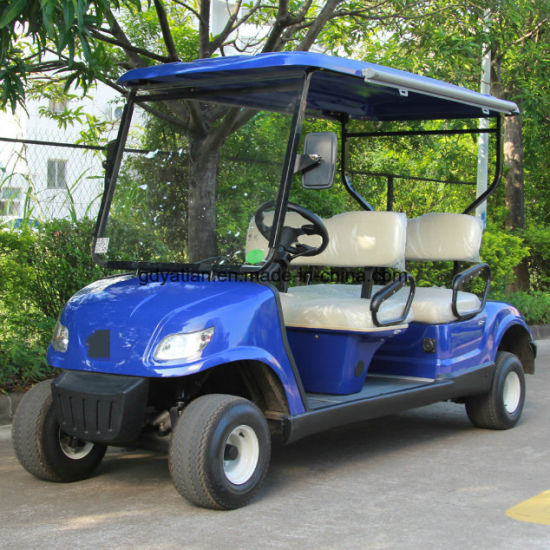 Safety Low Speed Electric Car Golf Cart 4 Seater Electric Vehicle