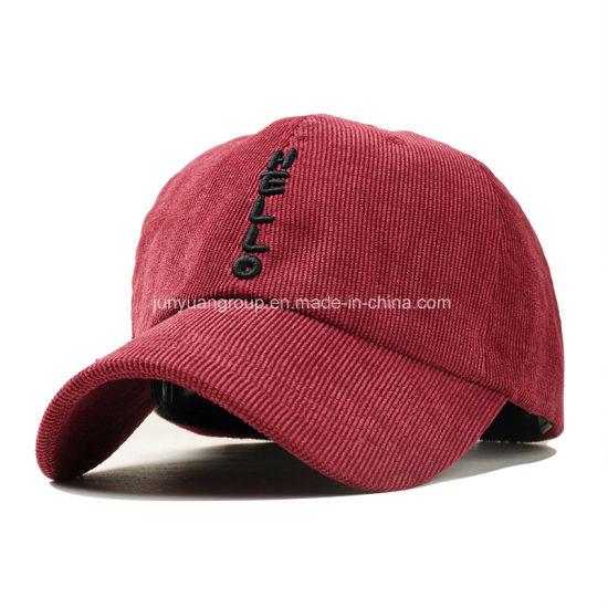 China Manufacturer Cricket Logo Embroidery Custom Dad Hat Baseball Cap