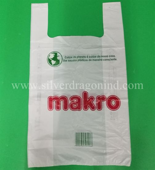 Custom Printed Plastic Poly PE Shopping Bag T-Shirt Bag Carry Bag pictures & photos