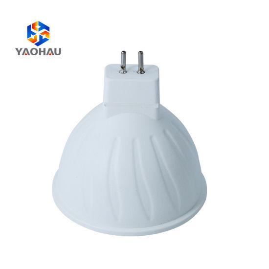 High Power Round IP20 Warm White GU10 MR16 Plastic SMD 2835 5W LED Lamp Cup Spotlight