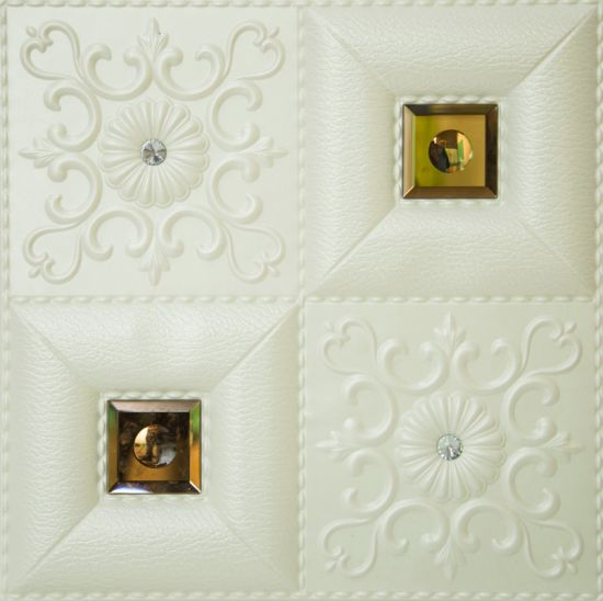 3D PU Leather Luxury/Premium Soft Wall Panel Home Decoration