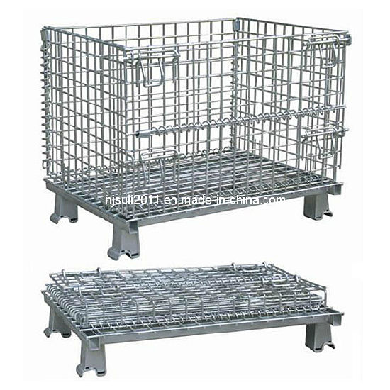 Garage Logistics Rolling Tools Storage Wire Mesh Cage