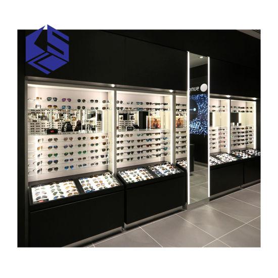 Ksl Optical Shop Design MDF Glasses Display Counter Furniture