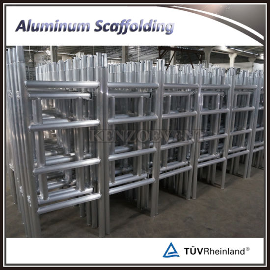 Aluminum Folding Scaffolding with Wheels pictures & photos
