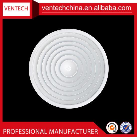 China Air Conditioning Aluminum Ceiling Round Diffuser Air