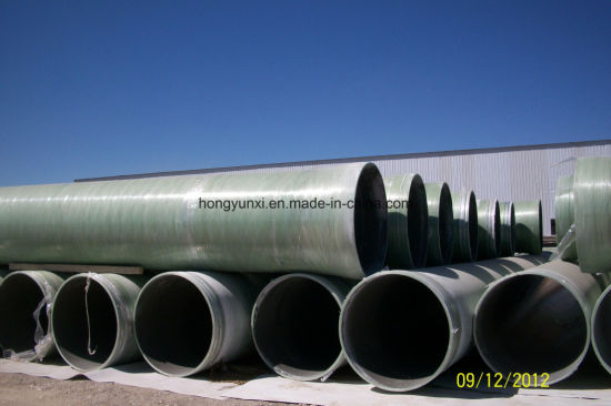 FRP or GRP Sand Pipe with Butt Joint or Spigot and Bell Joint