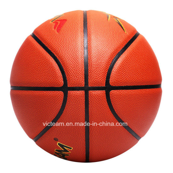 World-Class Micro Fiber Size 7 Match Basketball pictures & photos
