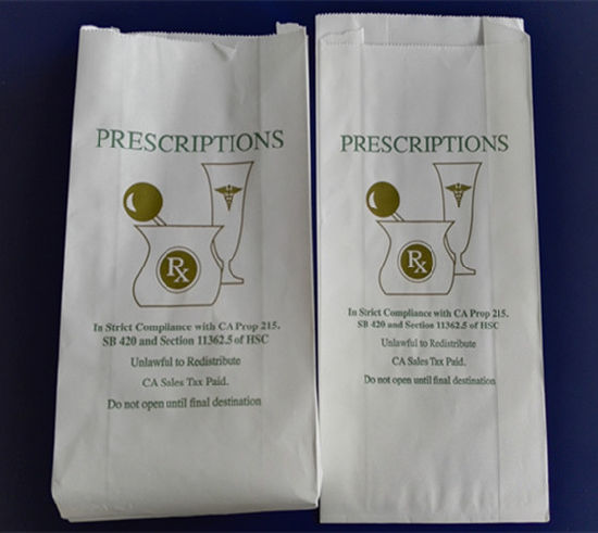 Competitive Price Recyclable White Kraft Paper Pharmacy Packing Bag
