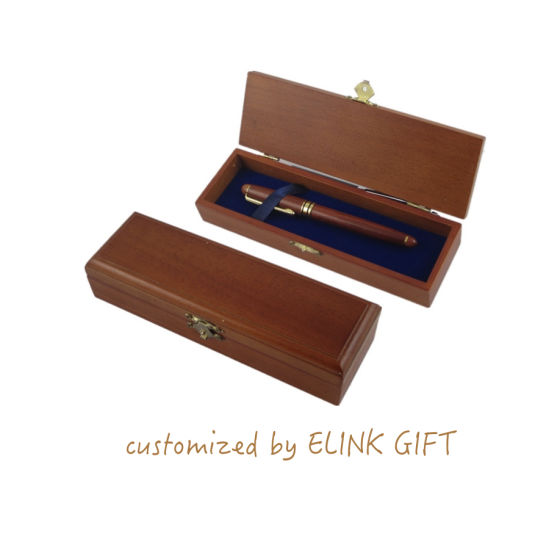 Customized Logo and Size Wood Handcraft Ballpoint Gel Pen Wooden Case Package Gift Box pictures & photos