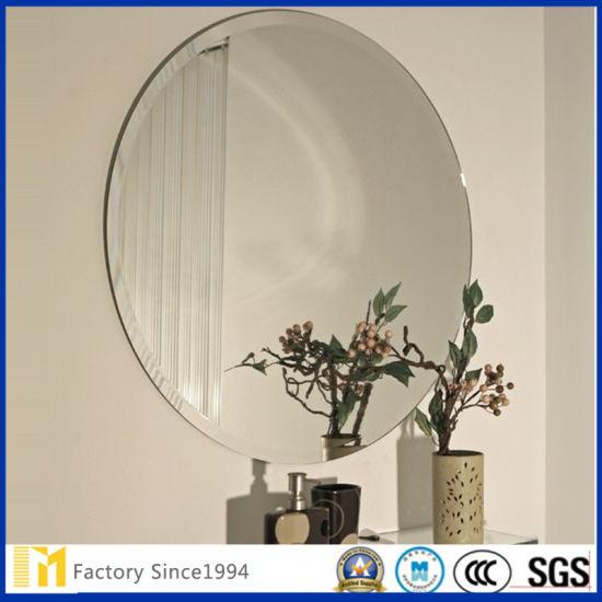 China Frameless Wall Interior Decorative Hanging Mirror Fof Sale China Bathroom Mirrors Beveled Glass