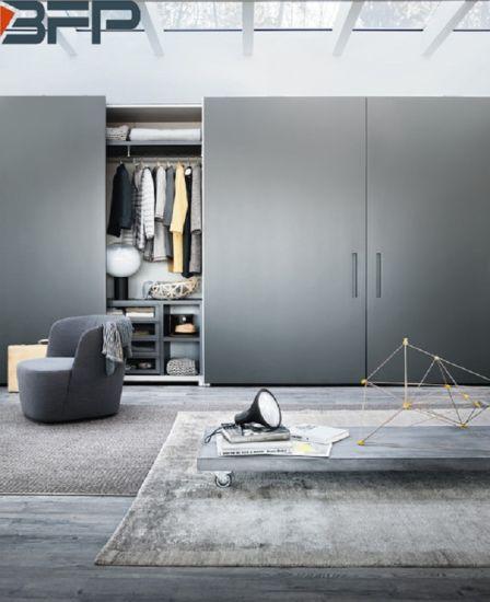 2019 New Modern Style Sliding Door Bedroom Wooden Wardrobe