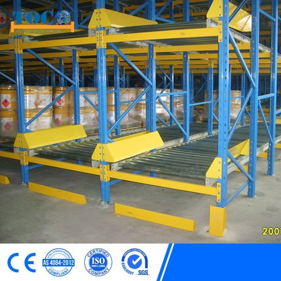 China Supplier Industrial Cold Room Pallet Flow Rack for Chemicals