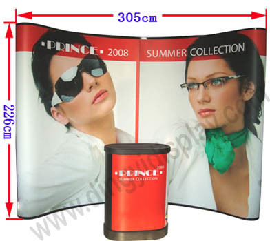 Curvy Shape Aluminum Pop up Display Equipment (PU-01-A) pictures & photos