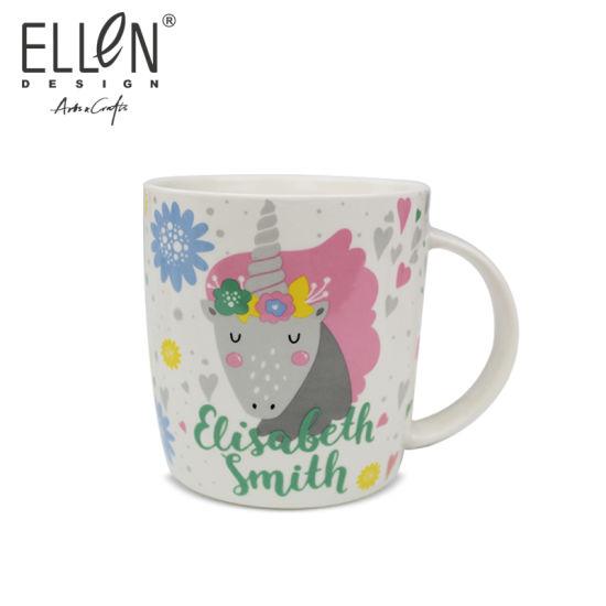 Promotional Gift Cartoon Unicorn Ceramic Coffee Mug