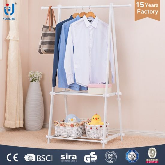 White Color Single Rod Folding Clothes Stand Pictures Photos