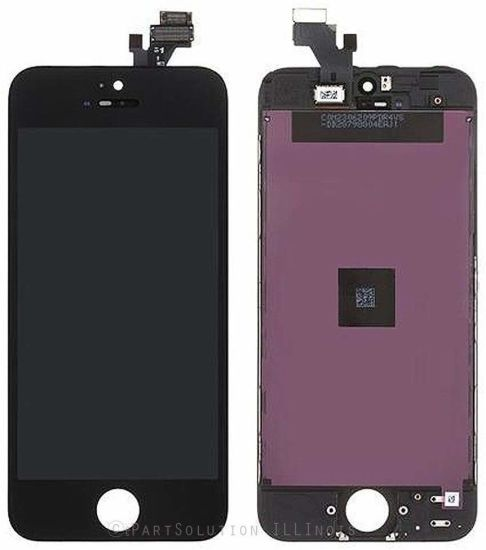 LCD Display Touch Screen Digitizer Assembly Mobile Phone LCD for iPhone 5 Replacement (Black)