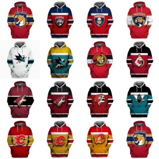 Wholesale 2019 Panthers Sharks Senators Coyotes Flames Sweaters Pullovers Hoodies