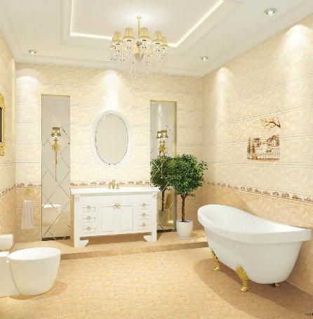 Bathroom Ceramic Wall Tile Inkjet Glossy Tile 300X600