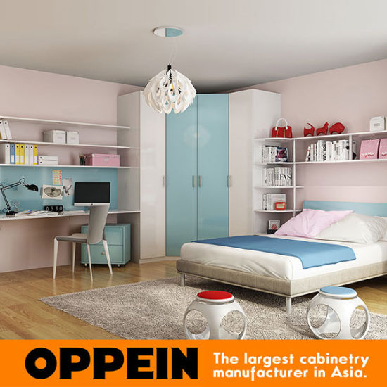 China Modern Kids Wooden Furniture Children Bedroom Furniture OP16