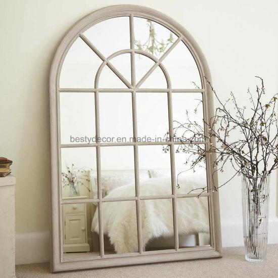 China Large Decorative Floor Leaner, Decorative Window Frame Mirrors
