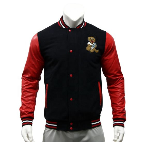 Hot Sale Fashion Style Baseball Jacket Wholesale Free Design Varsity Custom Men's Baseball Jackets