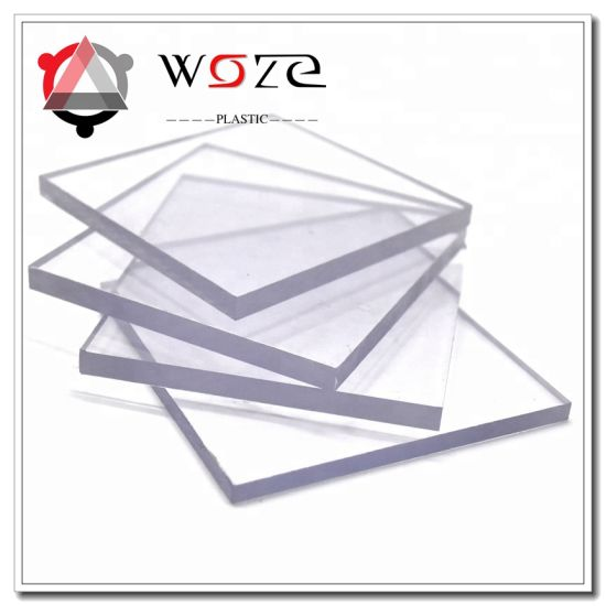 Clear PC Roofing Sheet Plastics Panel Solid Flat Polycarbonate Sheet Building Materials