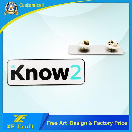 China Manufacturer Custom Offset Printing Company Logo Epoxy Lapel Pin (BG07)