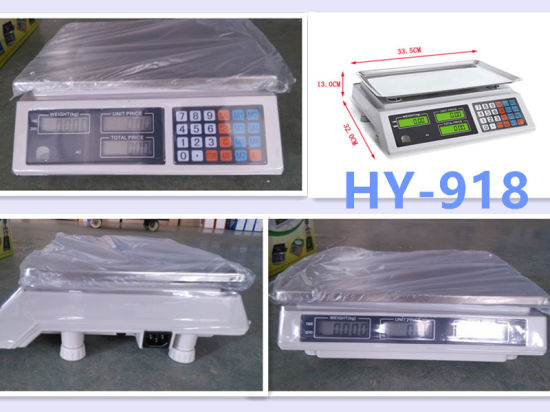 Plstic Cover Weighing Price Platform Digital Scale pictures & photos