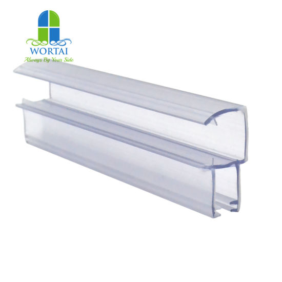PVC Plastic Profile Shower Door Seal Strip Can Fixed Wool Pile Weather Strip pictures & photos