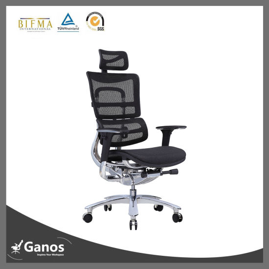 SGS TUV Ce ISO Certificate Swivel Alyminum Alloy Base Mesh Typist Chair pictures & photos