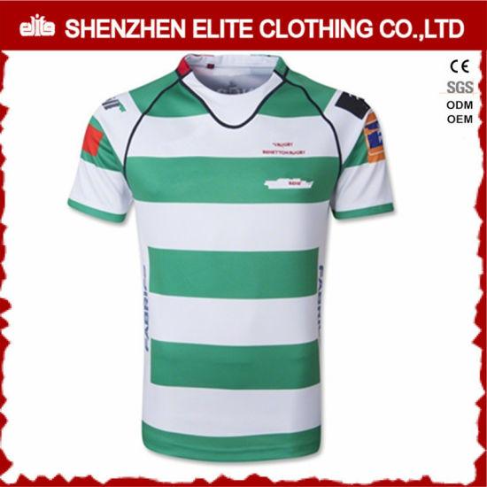 Popular Fashion Dri Fit Striped Rugby Jersey for Mens (ELTRJI-13)