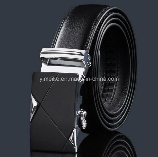 Factory Price 3.5cm Automatic Buckle Man Genuine Leather Ratchet Belts pictures & photos