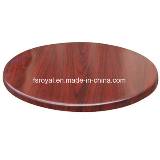 Hot Sell Wood Look Restaurant Canteen Dining Table Top Hotel Patio Garden Table Furniture pictures & photos