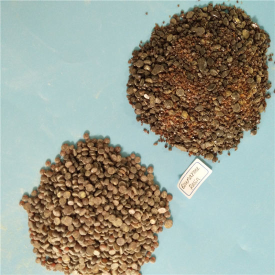Brown-Black Granule Form Coumarone Resin as Adhesive Materials pictures & photos