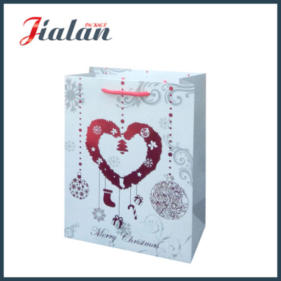 Customize with Hot Stamping Christmas Gift Packing Shopping Paper Bag