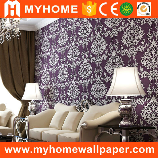 China Classic Purple Islamic Wallpaper For Home Decoration China
