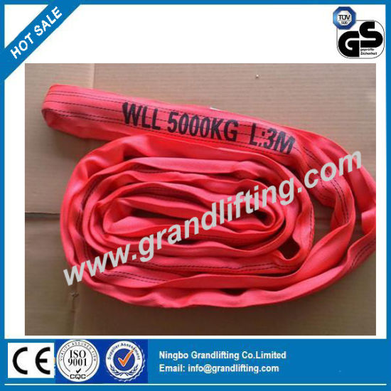 5t Lifting Sling Polyester Webbing Round Strap