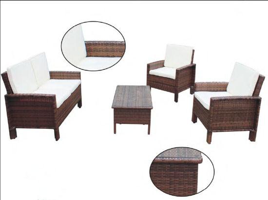 4PCS fashion Brown Wicker Furniture