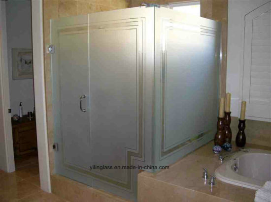 Toughened Acid Etched Bathroom Glass pictures & photos