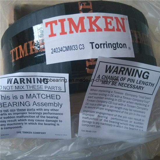 Timken Original Stock Bearing Factory 24034cmw33c3 Spherical Roller Bearings