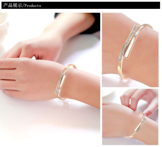 Stainless Steel Bracelets Fashion Jewelry Diamond Bracelets (hdx1026) pictures & photos