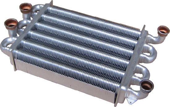 China 270X180mm Double Tunnel Gas Boiler Heat Exchanger - China Heat ...