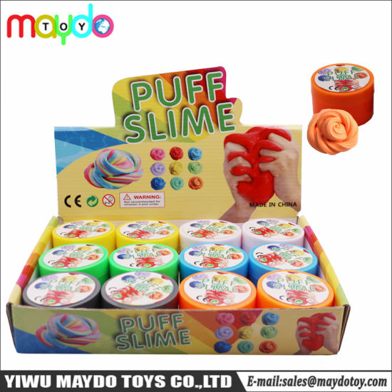 Diy Fluffy Slime Foam Putty Puff Soft Non Sticky Stress Relief Toy
