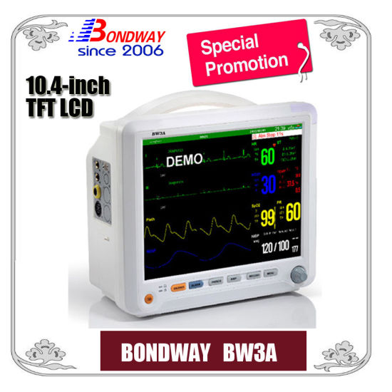 Physiological Functions Monitoring Equipment, Vital Signs Monitor, Multiparameter Patient Monitor with 10.4 Inch Large Screen