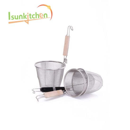 Stainless Steel Mesh Food Strainer Basket Noodle Strainer pictures & photos