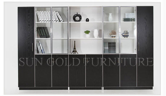 Popular Combine-Unit Storage Custom Office Filing Cabinets with Glass Door (SZ-FC079) pictures & photos